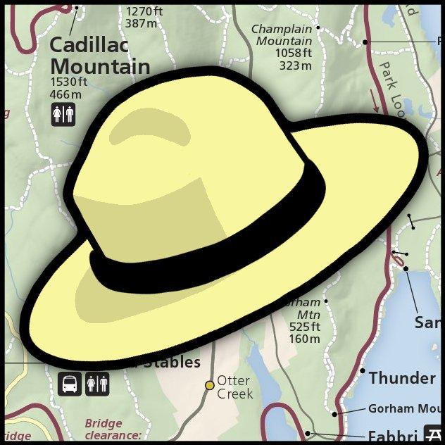 Mapes dels parcs nacionals dels Estats Units